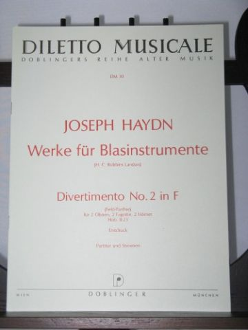 Haydn J - Divertimento No 2 in F Hb II:23